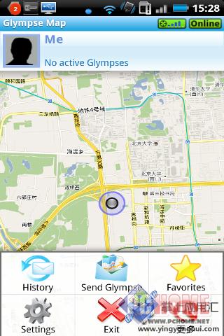 下载中心 手机下载 地图导航 gps导航 我在这里 glympse 定位 for
