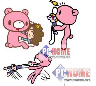 qq表情 粉红暴力熊官方免费下载_qq表情 粉红暴力熊图片