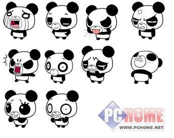 qq表情 搞怪熊猫图片