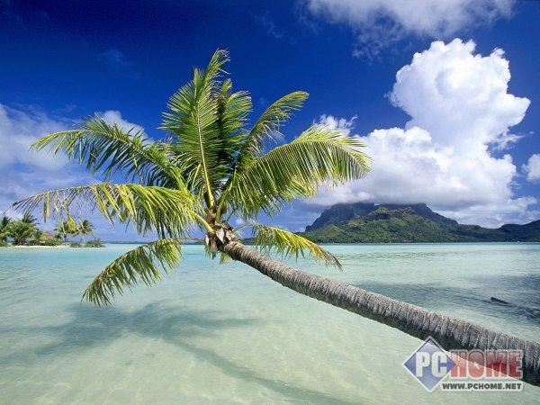 风和日丽 热带岛屿海滩高清风景壁纸