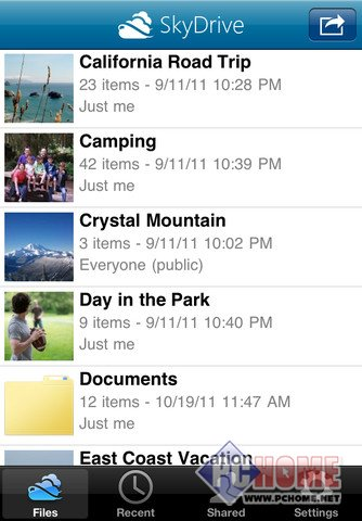 OneDrive (SkyDrive) for iPhone 10.59.4