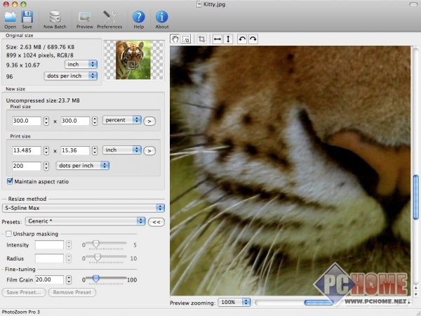 PhotoZoom Pro for Mac 7.1.0